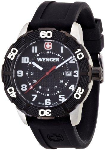 wenger - 010851105 - Montre Homme - Quartz Analogique - Bracelet Silicone Noir