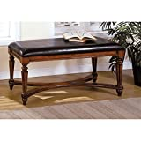 Metro Shop Furniture of America Mahogany-color Solid Wood Accent Bench