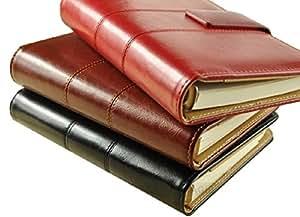 【SCGEHA】システム手帳 A5 上質 SCreationボールペン付 ブラック ブラウン レッド クラシカルタイプ (レッド)