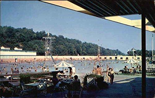 Sunlite Pool - Coney Island Cincinnati Ohio Original Vintage Postcard