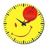 MeSleep Say Cheese Wall Clock With Glass Top
