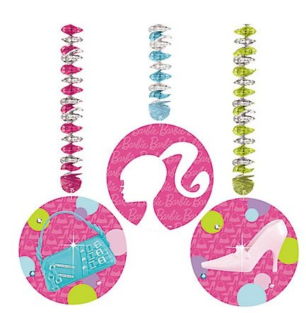 Barbie Dangling Cutouts 3 per pack