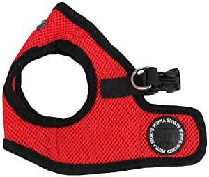 Puppia Soft Vest Dog Harness - Red - Small