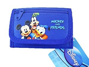 Disney Mickey & Friends Children's Tri-fold Wallet - Mickey Donald Goofy Wall...