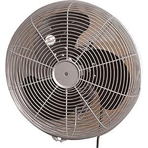 q standard oscillating wall mount fan 14in