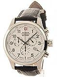 [ウェンガー]Wenger 腕時計 Swiss Military Field Dark Brown Leather Chronograph Date Watch 79013 メンズ [並行輸入品]