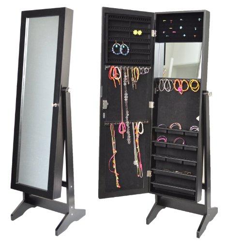 Armoire bijoux avec miroir 145 cm noir your 1 source - Armoire a bijoux avec miroir ...