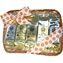 All Occasion Birthday Kona Hawaiian Coffee Sampler Gift Basket Ground Coffee Brews 60 Cups