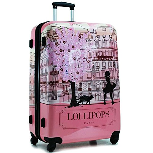 Lollipops - Valigia trolley Paris 60 cm - Rosa
