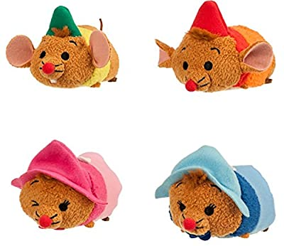 Cinderella Tsum Tsum Mini Plush Collection Set of 4 Mices Gus, Jaq, Perla and Suzy for Sale