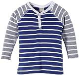 NAME IT Baby - Jungen (0-24 Monate) Pullover ERLAN CU NB LS TOP, Gestreift, Gr. 62, Mehrfarbig (Dazzling Blue)