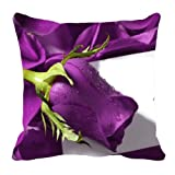 MeSleep Digitally Printed Valentine Cushion Cover - Purple (99-valentine)