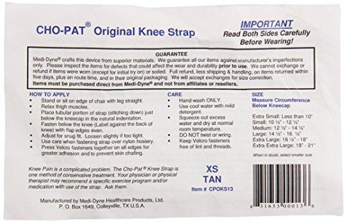 Cho-Pat Knee Strap, Tan, X-Small