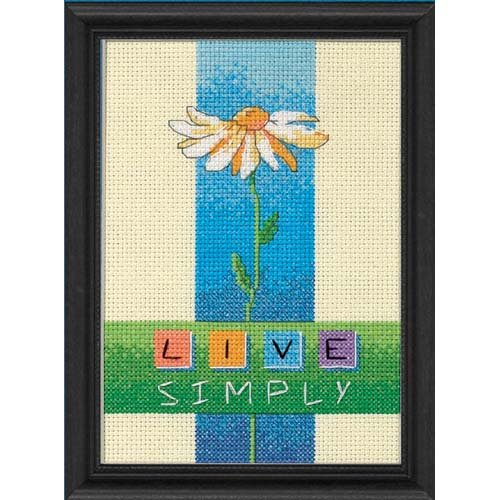 Dimensions Needlecrafts Counted Cross Stitch, Live Simply