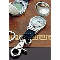 Clip on Watch w/ Cover (Incl. Strap), Pf, Unique Alternative to the Wrist Watch! Clip This Handy Hinged Watch Onto a Belt Loop or Your Golf Bag to Free Your Wrist. Finished with a Brushed Pewter Look, This 1.5 Watch Hangs From a Strap Making the Overall