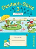 Deutsch-Stars - Allgemeine Ausgabe: 3. Schuljahr - Lesetraining: Übungsheft. Mit Lösungen