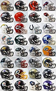 Buy All 32 NFL Teams SPEED Revolution Riddell Mini Helmets by Riddell