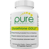 S-Acetyl Glutathione GOLD - 60 Vegetable Capsules (2 Month Supply) 200mg of S-Acetyl-Glutathione *PER CAPSULE* Efficient Once a Day Dosage | Patent-Pending, Acetylated Form of Glutathione | Supports Natural Antioxidant Activity | Free of Magnesium Stearate | Pharmaceutical Grade S-Acetyl-Glutathione