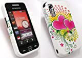 EMARTBUY SAMSUNG S5230 TOCCO LITE LCD SCREEN PROTECTOR AND SILICON CASE/COVER/SKIN LOVE HEARTS