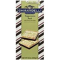 Ghirardelli Peppermint Bark Dark Chocolate Bar, 3.5 oz., 4 Count