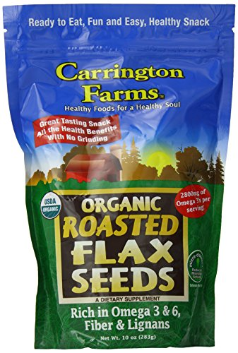 Carrington Farms Organic Roasted Flax Seed, 10 Ounce (Flax Seed Roasted compare prices)