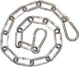 Inox/Edelstahl Kette 0,5m geschweißte Glieder (Rundstahl-Kette Form C) mit 2 Karabiner Haken