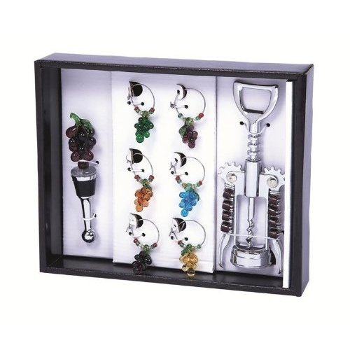Picnic Gift 5050-GH Wine Bling Set - Grape Harvest