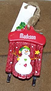 GANZ Personalized Sled Ornament (ONLY NAMES LISTED ARE AVAILABLE) new!