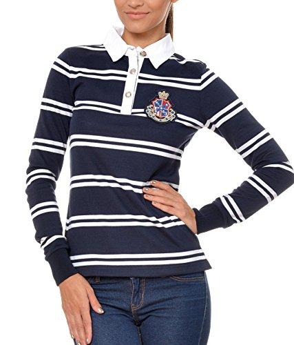 Polo Sweat Maglietta T-Shirt Felpa manica lunga per donna di M.Conte Kaylie blu M