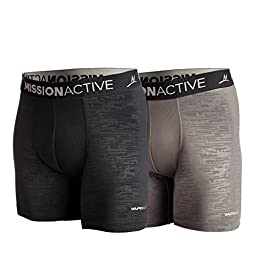 Mission Men\'s VaporActive Boxer Briefs - 6\