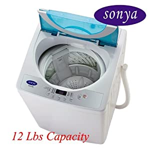 Sonya Compact Portable Apartment Small Washing Machine Washer 1.65cuft./12-13lbs/free