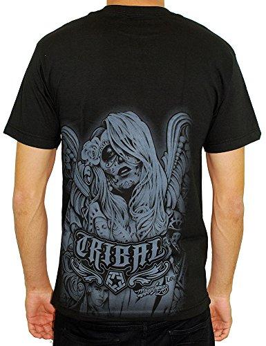 Tribal Gear Men's Wings T Shirt Black tribal gear men s hello t shirt black