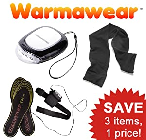Warmawear Hand Warmer, Heated Insoles and Scarf Set by Warmawear