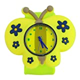 Stylish Slap-on Adorable Butterfly-shaped Dial Silicone Quartz Wrist Watch with Removable Watchband - Green