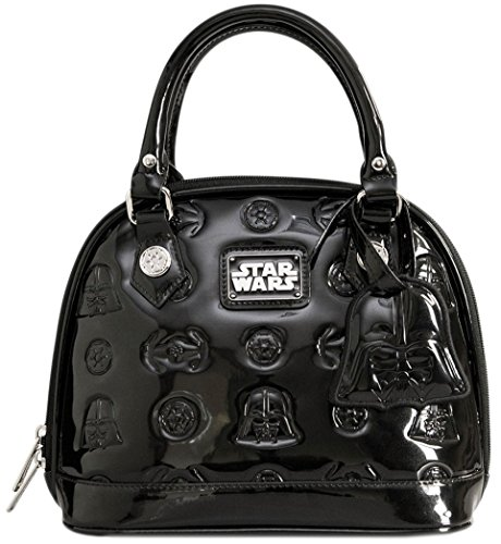 Loungefly Star Wars Darth Vader Darkside Mini Black Patent Embossed Dome Bag