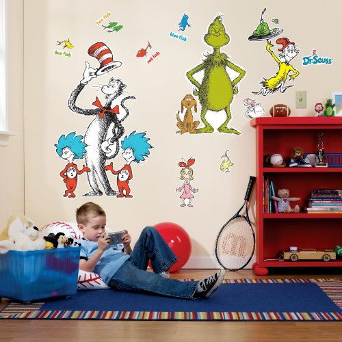 Dr Seuss Room Decor - Giant Wall Decals (Dr Seuss Characters Wall Decals compare prices)