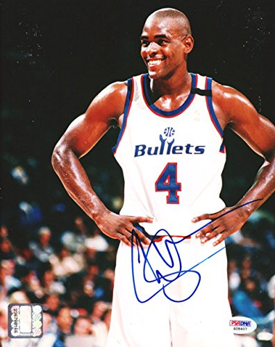 Chris Webber Washington Bullets Autographed PSA/DNA Authenticated 8x10 Photo Bullets - Signed Photos (Webber Bullets Jersey compare prices)