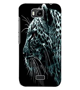 ColourCraft Tiger Look Design Back Case Cover for HUAWEI HONOR BEE