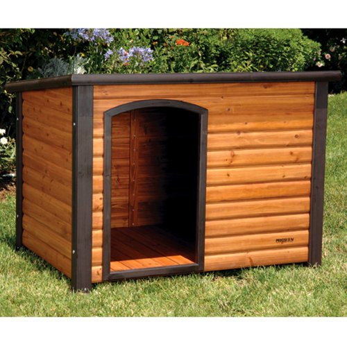 Precision Pet Outback Log Cabin Dog House, Large, 45 1/2X33X33-Inches front-1043074