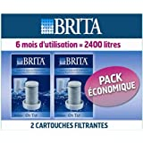Brita L12502 - Set de 2 filtros para grifo, color blanco/cromado