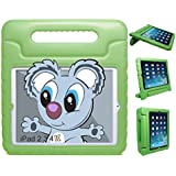 KAYSCASE KidBox Protective Cover Case with Stand and Handle for Apple iPad 2, 3, 4 (Green)
