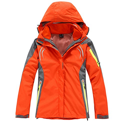 Woman Ski-wear Tree-In-One Waterproof And Velvet Suit Fleece Mountaineering Clothing Ski Suit SM007