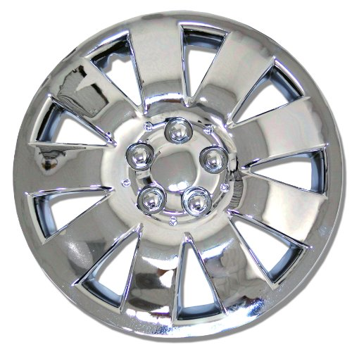 TuningPros WSC-721C14 Chrome Hubcaps Wheel Skin Cover 14-Inches Silver Set of 4 (2012 Toyota Yaris Hubcaps compare prices)