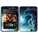 Diabloskinz Vinyl Adhesive Skin Decal Sticker for 8.9 inch Amazon Kindle Fire HD - Dragon and Faerie