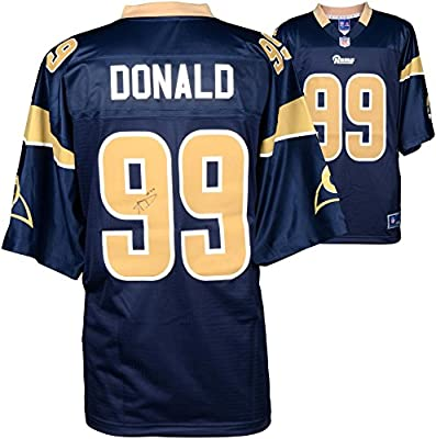 Aaron Donald Los Angeles Rams Autographed Nike Replica Navy Blue Jersey - Fanatics Authentic Certified