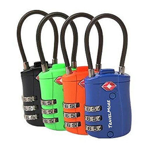 Tsa Approved Travel Combination Cable Luggage Locks For