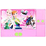 Frozen Elsa And Princess Anna Sisters Jumbo Pink Pencil Box For Girls. From The Hit Movie Frozen. Tab Style Pencil...