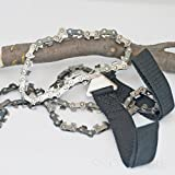 "Survival Pocket Chain Saw - 36"" Hand Chainsaw With 49 Cutting Teeth - A Cutting Tooth On Every Link - FREE Carrying Case Included - Perfect for Emergency Use, Backpacking, Bug Out Bags, Camping, Hiking, Pruning"