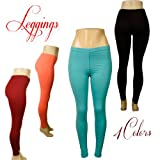Stylish Solid Colored Soft Stretch Leggings For Women Teens