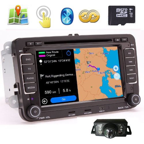 """Ouku Free Camera Included In-Dash 7"""" Digital Touch Screen Dvd Player Gps Navigation System With Bt Ipod Can-Bus(Oem Factory Style,Free Official Map) Special Made For New Bora / Passat Cc / Passat B6 / Jetta A5 / Golf Plus / Golf 5 / Golf Gti / Golf R32 / front-817766"""